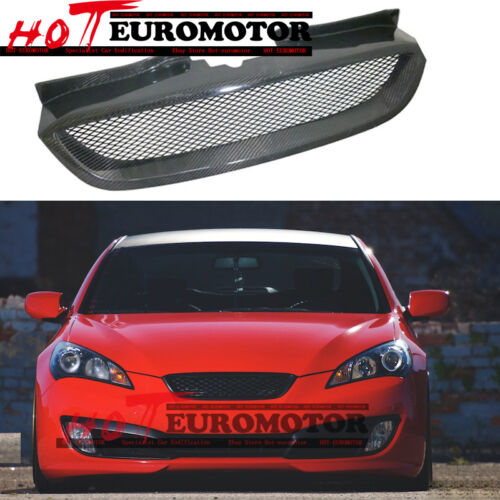 Carbon Fiber Front Bumper Grille Grill for Hyundai 2008-2010-2012 Genesis Coupe
