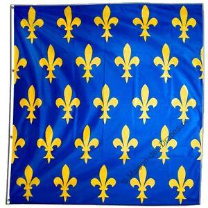 drapeau france fleur de lys bleu fran ais 150x150cm. Black Bedroom Furniture Sets. Home Design Ideas