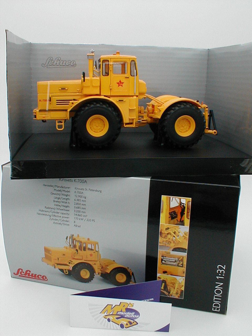 Schuco 07718-Kirovets k-700a Tracteur Année 1975  Jaune  1 32 Nouveauté