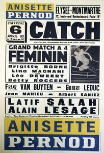 """""""ANISETTE PERNOD - CATCH"""" Affiche originale entoilée 6-4-80 44x64cm Mms6jmQM-07163028-496553162"""