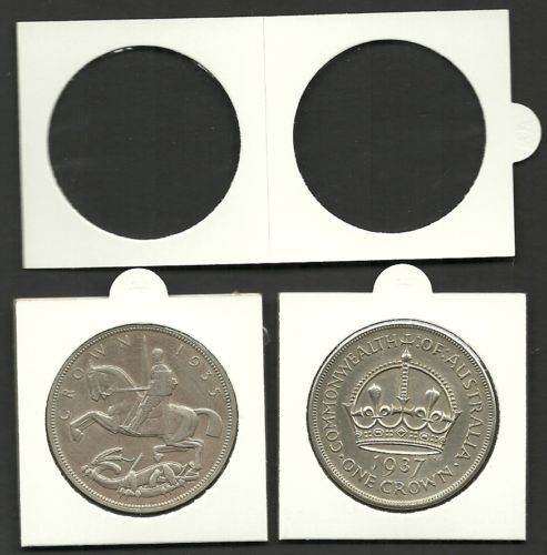 COIN HOLDERS 2 x 2 Staple Type 39mm Suits CROWN Size COINS Bundle of 50