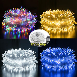 Christmas-Fairy-String-Lights-20-500-LEDs-Wedding-Party-Holiday-Tree-Festival-US