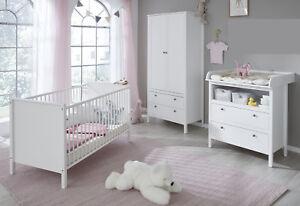 Babyzimmer Komplett Set Weiss Wickelkommode Bett Schrank Gs Siegel