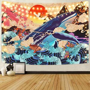 Octopus Tapestry Undersea Creature Wall Hanging Mandala Bedspread Room Decor