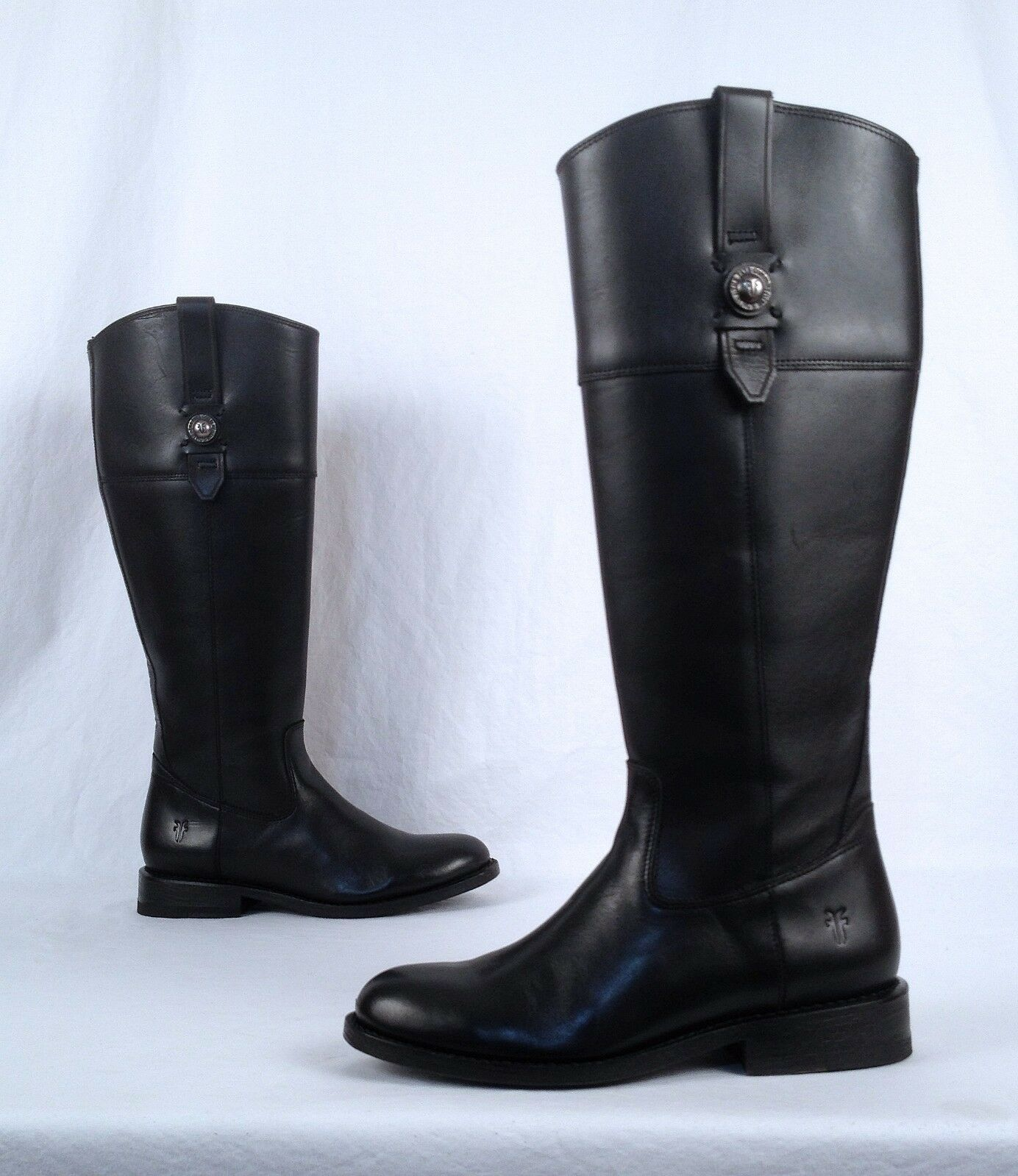 NEW   Frye 'Jayden Button' Tall Riding Boot- Black- Size 5.5 B   425 (B80)