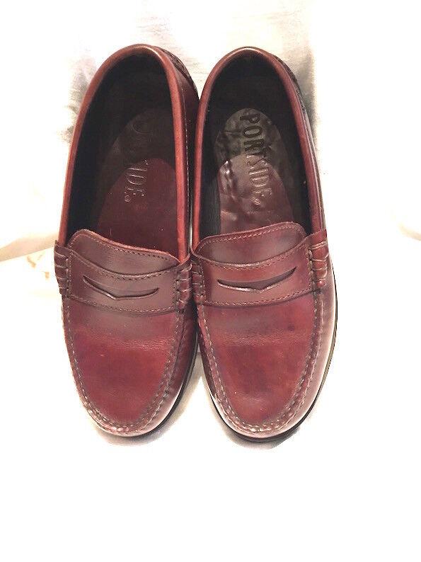 PORTSIDE 6 Chestnut Braun Thick Leder Loafer/Boat Schuhes Fab