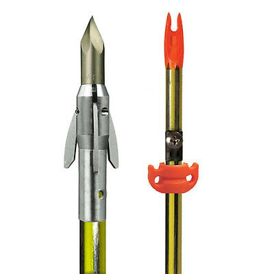 AMS Bowfishing Arrow Carbon Spined Ankor QT Point w AMS Safety Slide #30700