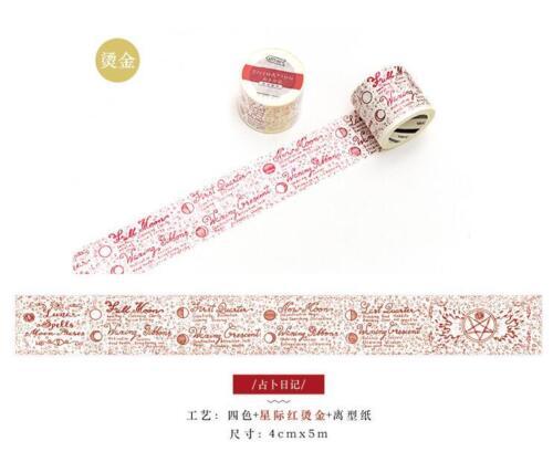 Hágalo usted mismo bronceado Decorativo Cinta de papel washi álbum diario Scrapbooking Pegatinas
