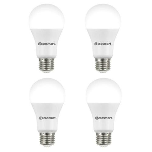 75 Watt Equivalent A19 Dimmable ENERGY STAR LED Light Bulb Bright White 4 Pack