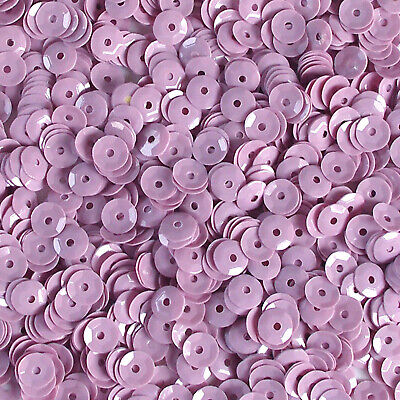 Sequins Cream Lilac 8mm Round Cup ~400 or ~4,750 pieces Loose HQ