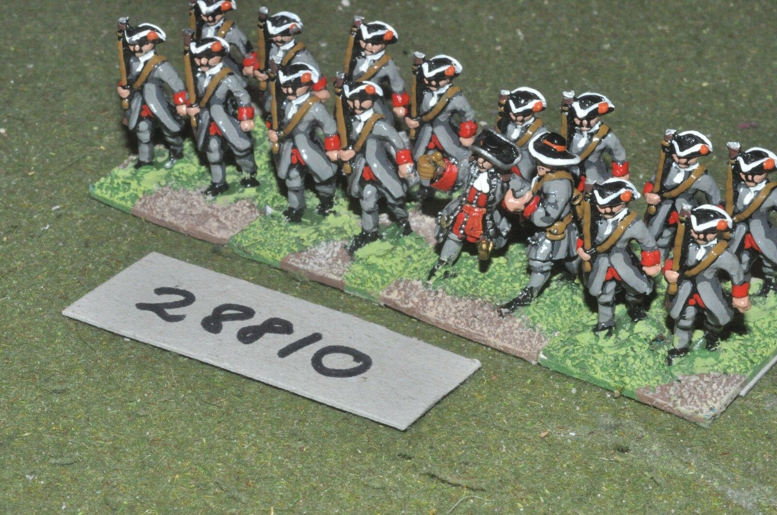 25mm marlburian   dutch - regt. 16 figures - inf (28810)