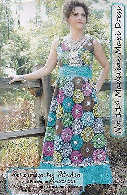 Serendipity Studio Madeline Maxi Dress Sewing Pattern XXS-XXL New Uncut 2011