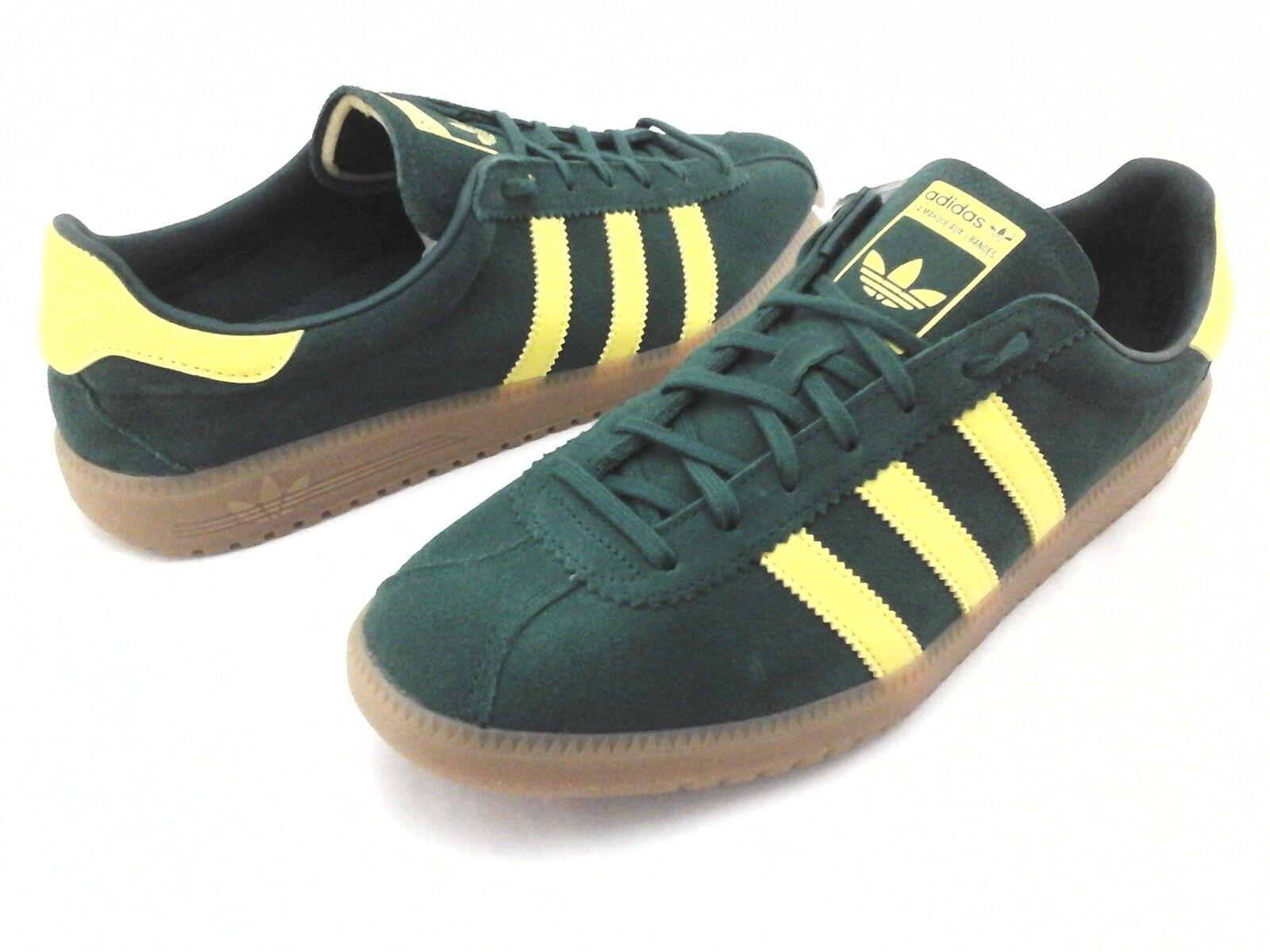 Adidas BERMUDA shoes Green Suede Yellow Gum Sole Retro B41472 Men's US 11 45 1 3