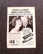 M324- Advertising Pubblicità -1960- COLGATE CON GARDOL ELIMINA L'ALITO CATTIVO
