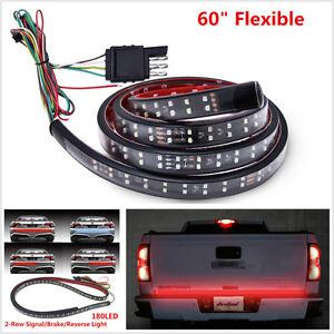 """60"""" Flexible Truck Tailgate Light Turn Signal Brake Reverse Lamp For F-150 GMC"""