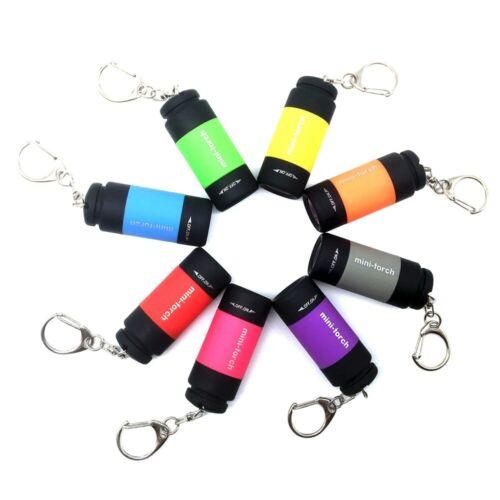 Mini USB Rechargeable Torch LED Light Flashlight Lamp Pocket Keychain Torch Vi