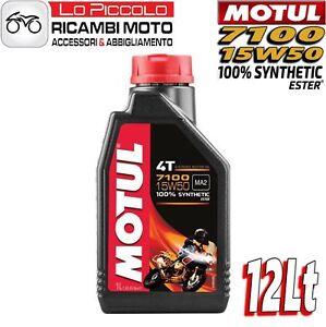 12-LITRI-LT-OLIO-MOTORE-MOTO-MOTUL-7100-4T-15W50-100-SINTETICO-ESTER-MA2