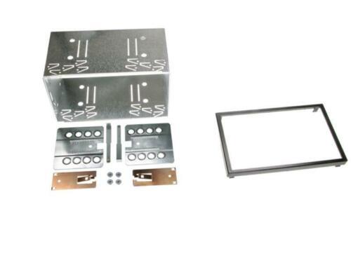 doble 2-din Bastidor de metal installations kit para doble ISO cegar 182x103 mm