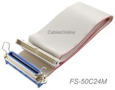CablesOnline AD-S23 SCSI Drive CN50 50Pin F 16 to IDC50 50Pin M Ribbon Cable
