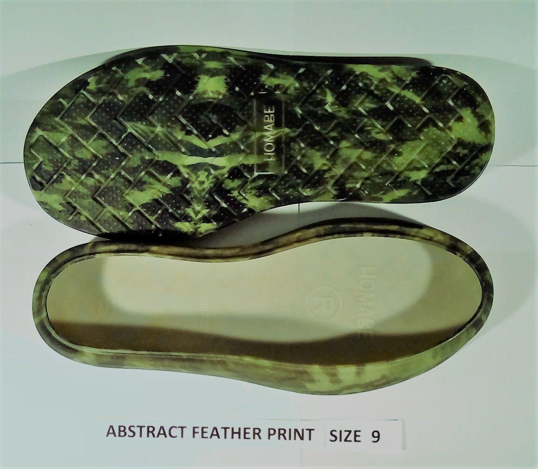 1 paire enveloppes de bottes HOMAGE convient aux bottes UGG ** impression de plume abstraite ** taille 9 nouveau