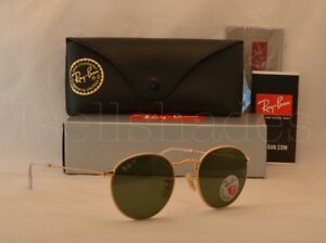 82862532372fd Ray Ban ROUND METAL (RB3447-112 58 50) Matte Gold with Green ...
