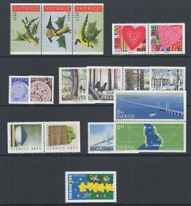Sweden-Sc-2367-2394-MNH-2000-issues-7-complete-sets-fresh-bright-VF-group