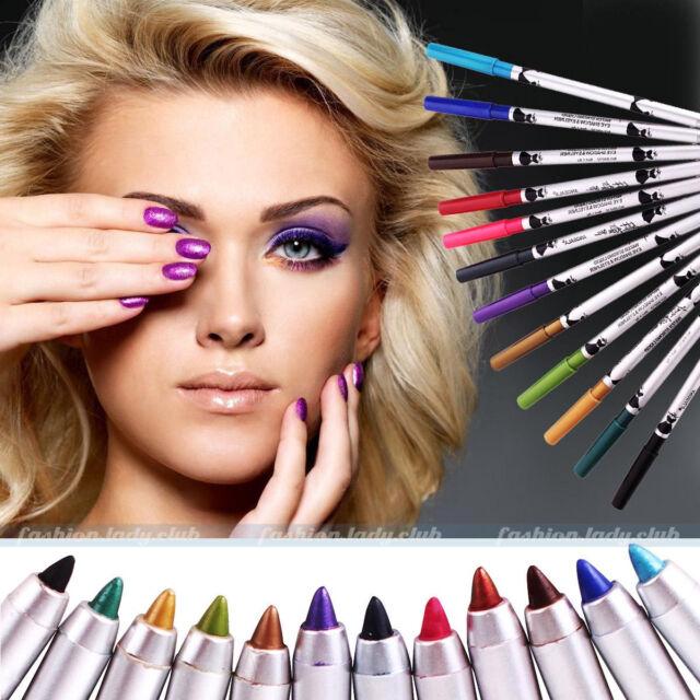 12 Colors Cosmetic Make Up Eye Liner Eyeliner Eyeshadow Pen Pencil Face Makeup