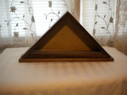 Small Flag Display Case in Walnut 3 X 5 not for Casket or V.A Flag