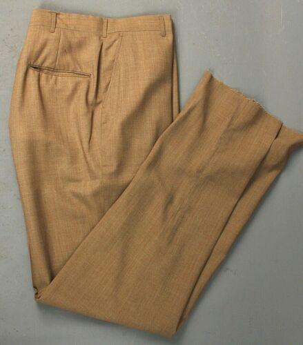 Men's NOS 1960s Mustard Yellow/Brown Tapered Leg D