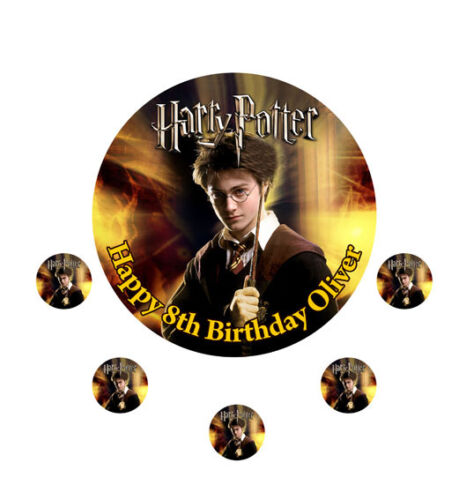 """HARRY POTTER CAKE TOPPER PARTY PERSONALISED  ICING SUGAR 7.5/"""""""