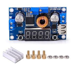 1PCS-5A-CC-CV-LED-Drive-Lithium-charger-Power-Step-down-Module-W-USB-Voltmeter