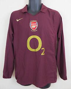 official photos 492aa 80ec9 Details about Nike Arsenal Football Highbury 2005-06 Long Sleeve Shirt  Soccer Jersey Medium M