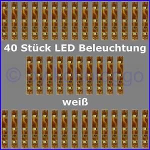 S333-40-Stueck-LED-Beleuchtung-5cm-WEIss-Haeuser-Waggons-RC-Modelle-uvm