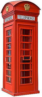 Sticker trompe l/'oeil cabine téléphonique anglaise 70x170cm réf 618