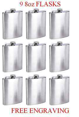 9 Personalized Flasks 8oz groomsmen Usher bestman bridesmaid gifts