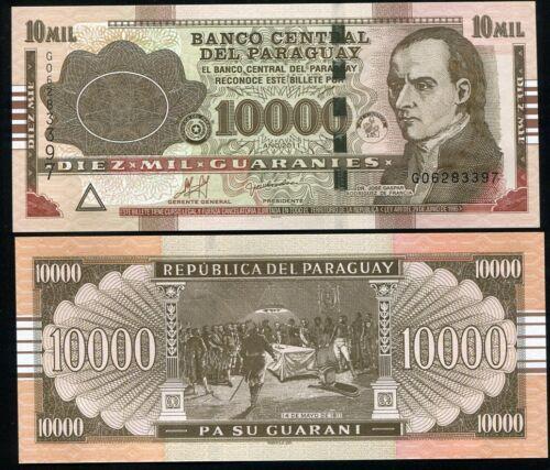 2014 PARAGUAY 10,000 10000 GUARANIES 2011 P 224 UNC