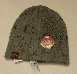 Disney Store Star Wars Beanie Hat Kids Reversible Stormtrooper Death ... 62bf5a24b486