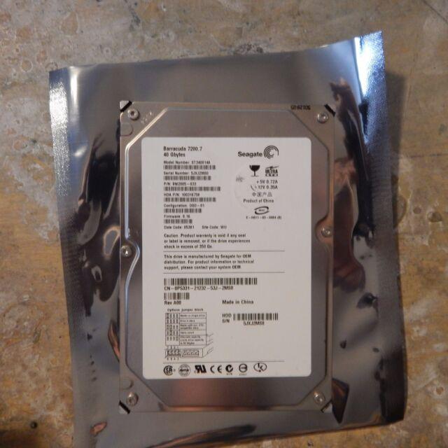 PCB+HDD ST340014A, 9W2005-033, Seagate 40GB 3.5 IDE HDD, 100282772 G