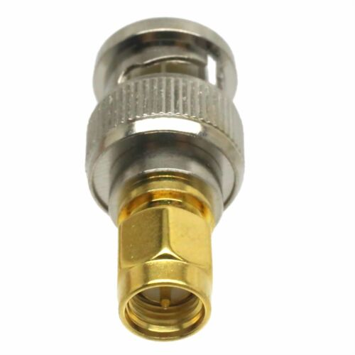 1pce BNC Male Plug to SMA Male Plug RF Coax Adapter Connector Straight