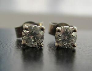 Brand-New-1-3ct-33ct-Diamond-9ct-White-Gold-Stud-Earrings-Freepost