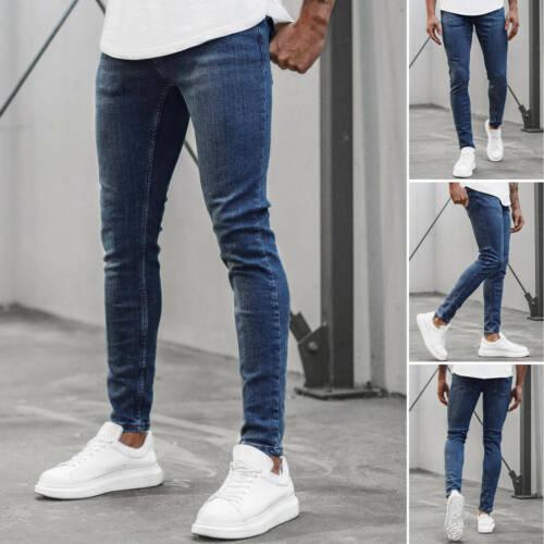 Jeanshose Röhrenjeans Straight Cut Slim Fit Hose Clubwear Herren OZONEE O//4407