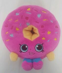 Shopkins-Donut-D-039-Lish-Plush-Smiley-Face-Pink-Sprinkles-6-034-No-Tags