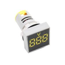 Panel Mount Square Display Digital Voltmeter Ac 20 500v Led Display Yellow