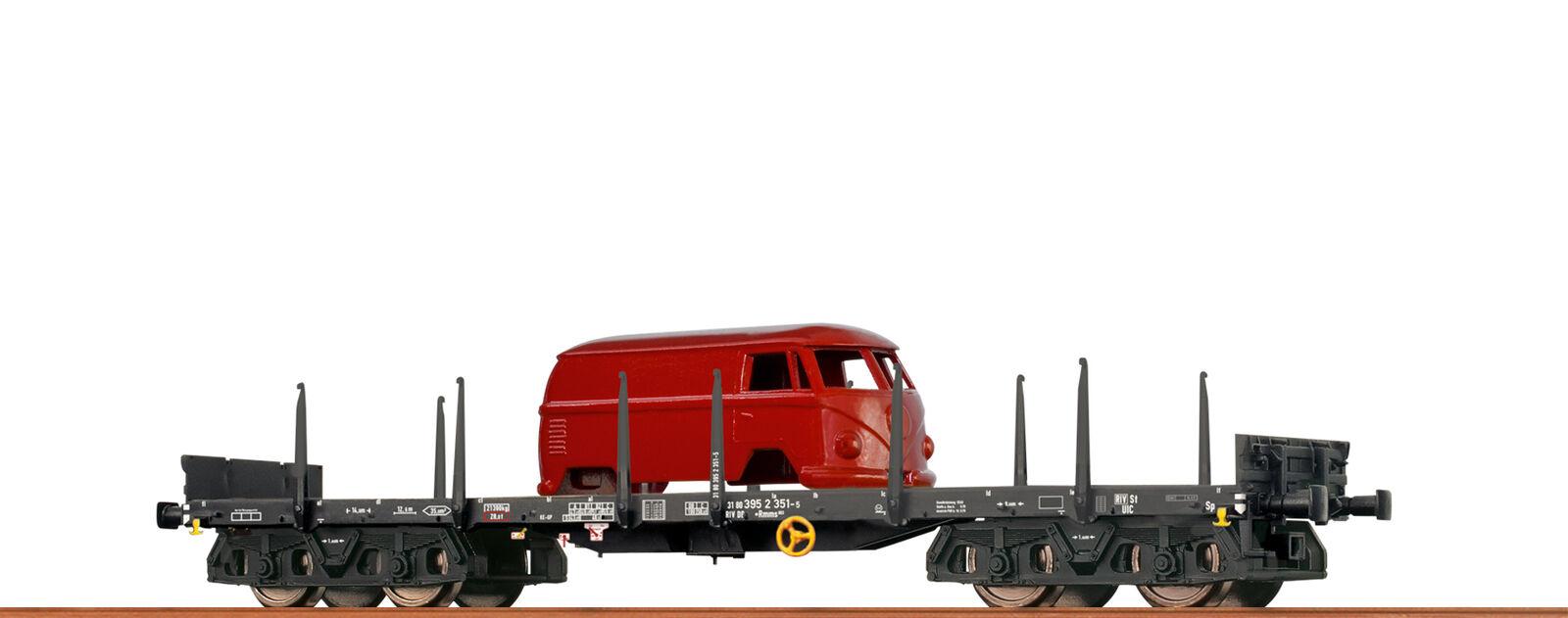 Brawa 47117 Échelle H0 Wagon Plat Rmms 663 Db, IV, Bogie Dc