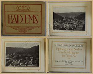 Orig-Werbeprospekt-Bad-Ems-1912-Rheinland-Palz-Ortskunde-Landeskunde-Kurort-xy