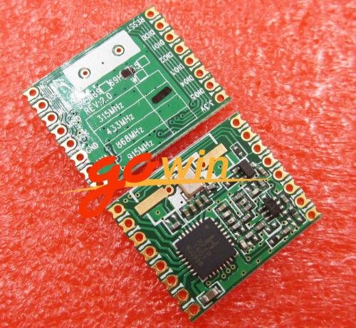 Remote//HM RFM12B HopeRF Wireless Transceiver 2PCS RFM69HW 433Mhz RFM69HW-433S2