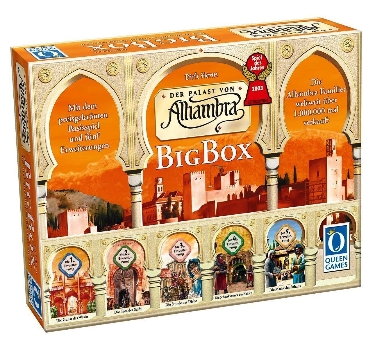 Le palais de Alhambra-Big Box-Queen Games 6037-édition allemande-NEUF