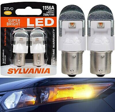 Contains 2 Bulbs 1156 ZEVO LED Red Bulb Ideal for Stop and Tail Lights Bright LED Bulb SYLVANIA