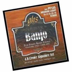 GHS J. D. Crowe Studio Signature 5-String Banjo Strings Medium Light PF135