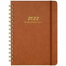 2022 Planner Weekly Monthly And Yearly Planner With Monthly Tabs 63 Brown